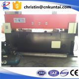 Máquina que corta con tintas hidráulica de la base plana de cuatro columnas
