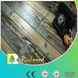 assoalho laminado V-Grooved raspado mão de 12.3mm E1 HDF AC4