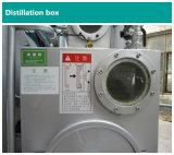 O anúncio publicitário veste a máquina limpa seca da lavanderia