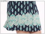 """Seção longa Sleeveless da V-Garganta """"sexy"""" do vestido da cópia do verão da cintura um vestido das mulheres da saia"""