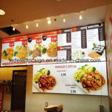 LED Light Box with Restaurant Fast Food Menu Board for Restaurant Equipment