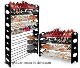 crémaillère empilable et réglable de 10-Tier de chaussure avec la couleur noire
