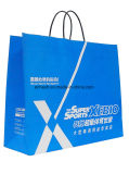 China Supplier Logo Printing Bolsa de papel preto Kraft com alça