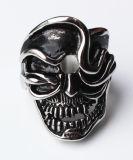 Anillo de cráneo para hombre Anillo de acero inoxidable estilo punky para hombres