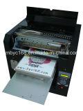 La impresora de la camiseta con crea para requisitos particulares