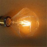 bulbos del filamento del diamante LED Edison E27 B22 E14 de 2W 4W 6W 8W G125