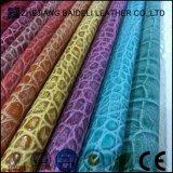 Heißes verkaufendes klassisches Krokodil-Muster synthetisches PU-Belüftung-Material-Leder