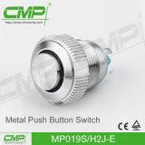 interruptor de tecla impermeável de 19mm com luz do diodo emissor de luz