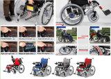 Sillas de rueda eléctricas con las piezas