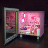 Mobília de madeira da casa de boneca do brinquedo bonito com luz
