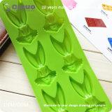 Grüne Kaninchen-Nahrungsmittelsilikon-Gummi-Backen-Form 24*10*1.3cm