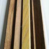 MDF com limiar de folheado de madeira / tampa de extremidade / redução de tapetes moldagem de madeira