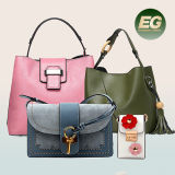 Bolso de totalizador de la señora bolso de cuero genuino de las mujeres del diseñador de moda 2017 (EMG4771)