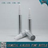 Tubo privado de aire cosmético plástico de plata de la crema del ojo de la botella del aerosol de la crema del ojo