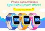 Perseguidor elegante del dispositivo de la localización de la llamada del reloj SOS del bebé del reloj del GPS para el color amarillo Anti-Perdido seguro del monitor Q60 del cabrito