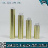 Bottiglia senz'aria cosmetica di plastica della lozione dell'oro con la pompa