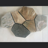 Giallo naturale/verde/mattonelle grige/rustiche/nere dell'ardesia della quarzite