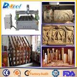 Grabador de madera de la máquina de grabado del ranurador de la máquina del CNC con el dispositivo rotatorio