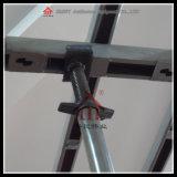 Tornillo ajustable de la U-Pista del acero de los accesorios del andamio y Gato bajo