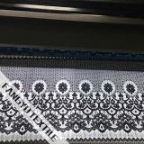 Tessuto di nylon del merletto della guarnizione del cotone del ciglio