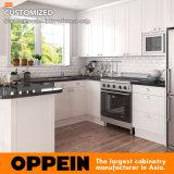 Armadio da cucina a forma di U del PVC di stile di Oppein piccolo dei Governi di legno bianchi americani dell'agitatore (OP17-PVC06)