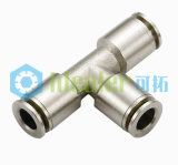 EC RoHS Certified Brass Pneumatic Push in Fittings PT NPT BSPP Threads