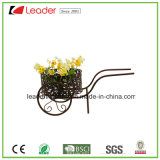 Flowerpots revestidos pó da bicicleta do metal para a decoração da HOME e do jardim