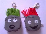 Jouet mou r3fléchissant de cheveu vert principal de jouet pour la sûreté