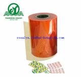 Bolha médica que empacota a película rígida farmacêutica 0.2mm-0.4mm do PVC densamente