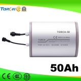 batterie au lithium profonde de cycle de la mémoire 50ah solaire rechargeable de la qualité 11.1V