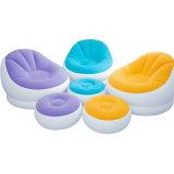 Flocado PVC Relax inflable del sofá de la playa o al aire libre para