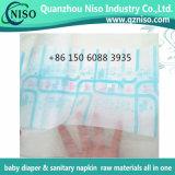 Разбивочная польностью прокатанная ткань пленки PE Nonwoven для пеленки Backsheet младенца Ткан-Как Nonwoven