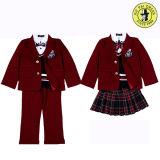Uniforme do terno da escola preliminar para o menino e a menina