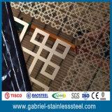 Hoja de acero inoxidable 1.5m m del espejo decorativo del espesor del certificado de prueba del molino