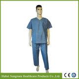 淡いブルーのSMSは3つのポケットが付いているスーツをごしごし洗う