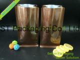 Sacs de café de sac de poche en plastique de papier de café/fond plat avec la soupape et la tirette