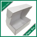 Коробка ботинка картона Fsc рециркулированная сертификатом изготовленный на заказ белая