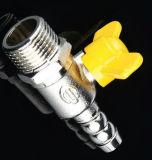 Die Außenseite das Draht-Gelb-Kugelventil