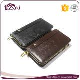Бумажник деньг Mens Fani длинний, создатель бумажника неподдельной кожи изготовленный на заказ