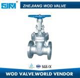 Válvula de puerta ensanchada del acero inoxidable para el gas de petróleo y el agua Pn16 Dn100