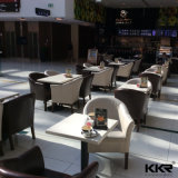 Artificial Stone Square Restaurante Cafetería Mesa de comedor