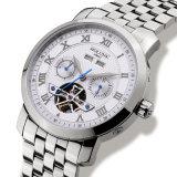 Reloj mecánico automático impermeable Relogio del acero inoxidable de la semana de la fecha de Tourbillon del reloj de lujo de los hombres masculino