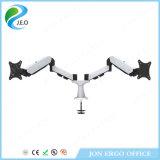 Carrinho durável do monitor do braço Ys-Ds324fg da mola de gás do indicador da Dois-Tela de Jeo
