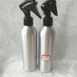 bottiglia di alluminio d'argento 250ml con lo spruzzatore di plastica nero di innesco