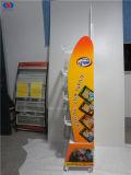 Fußboden-stehende Nahrungsmittelmetalldraht-Korb-Bildschirmanzeige für Speicher