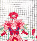 A camisa do Flounce T da menina da fábrica com flores imprimiu