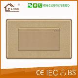 Interruptor ligero de la pared con la impresión de oro, 10A/250V