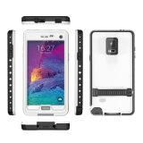 Fuera del caso impermeable de la natación del teléfono móvil para la célula elegante Samsung Note4