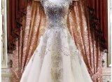 2017 vestido de bola vestido de noiva nupcial Rfl005