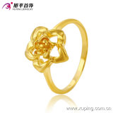 10290 anello di barretta placcato oro del fiore dei monili 24k di modo per le donne